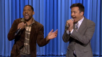 Watch Will Smith And Jimmy Fallon Rap 'It Takes Two' With Some Help From An iPad App