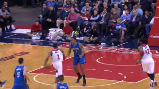 John Wall Dishes Fancy, Behind-The-Back Dime To Nene For The Flush