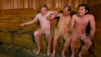 Watch Conan And Steven Yeun From 'The Walking Dead' Get Naked And Visit A Korean Spa