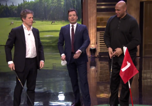 Hugh Grant, Charles Barkley, And Jimmy Fallon Play A Speedy Round Of Hallway Golf
