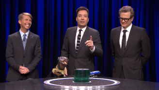 Watch Triumph The Insult Comic Dog Completely Ruin Jimmy Fallon's Game Of 'Catchphrase'