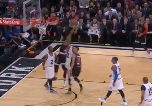 Watch This Crazy No-Look Stephen Curry Lob For The James Harden Jam
