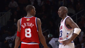 Watch Kobe Bryant And Michael Jordan Talk Smack During The 2003 All-Star Game