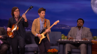 Watch Adam Scott, Craig Robinson, & Clark Duke Sing The 'Hot Tub Time Machine 2' Theme Song