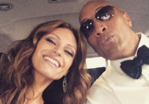 The Rock Is Of Course Living The Dream At The Oscars