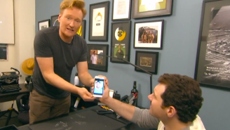 Watch As Conan And Billy Eichner Try Out Grindr With Disappointing Results