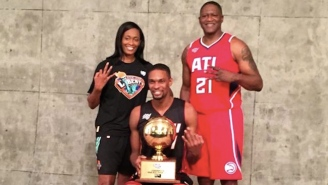 Chris Bosh Finally Gets His Three-Peat With Shooting Stars Challenge Win