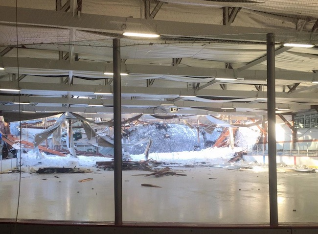 A Massachusetts Skating Rink Roof Collapsed Under Heavy Snow