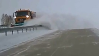 This Snow Plow Was Tasked To Clear The Road, But Managed To Do The Complete Opposite