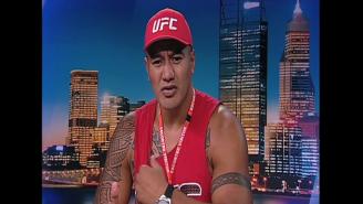 Watch UFC Heavyweight Soa Palelei Awkwardly Read The Weather On Australian TV