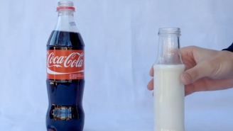 Watch The Amazing Thing That Happens When You Add Milk To Coca-Cola