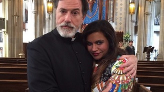 Stephen Colbert And His Beard Will Guest Star As A Priest On 'The Mindy Project'