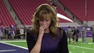 Suzy Kolber Tearfully Recalls Her Friendship With Stuart Scott During ESPN's Super Bowl Pregame Show