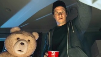 Mark Wahlberg And His Bear Try To Steal Tom Brady's Essence In The 'Ted 2' Super Bowl Trailer