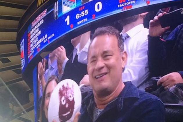 Tom Hanks and Wilson