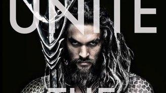 Introducing Jason Momoa as Aquaman and he looks pretty fierce doesn't he?