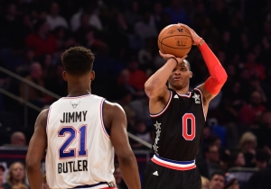 Russell Westbrook Sets NBA All-Star Game Record For Points In A Half With 27 In Under 12 Minutes
