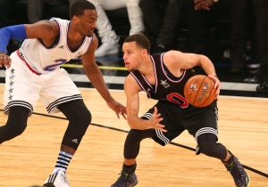 Pure Warlock: Watch Stephen Curry's Dizzying Handle And Layup Past Al Horford