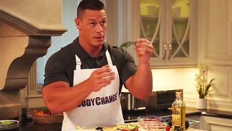 Watch John Cena And His Giant Arms Fumble With Food On His New Cooking Show