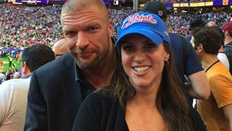 Stephanie McMahon And Joel McHale Ran Smack At Each Other Via Twitter At The Super Bowl