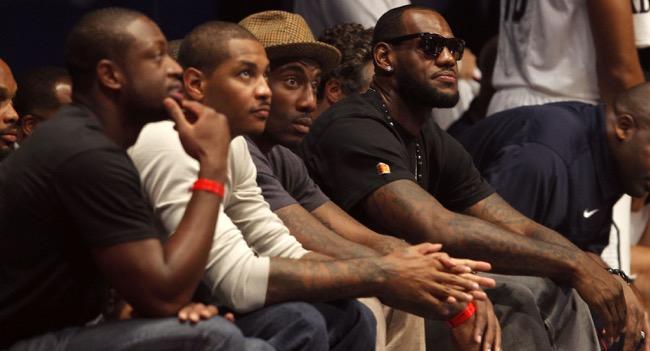Dwayne Wade, Carmelo Anthony, Amar'e Stoudemire, LeBron James