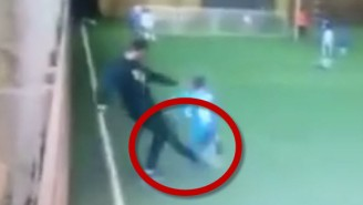 World's Meanest Coach Sweeps The Leg On A Poor Youth Soccer Player