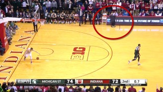 Watch Tom Izzo Completely Lose It At The End Of The MSU Game