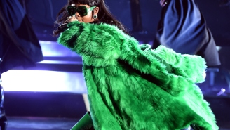 Rihanna Performed 'B*tch Better Have My Money' While Dressed As The Riddler