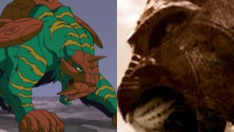 So it looks like He-Man's beloved green Battle Cat got a gritty live-action makeover