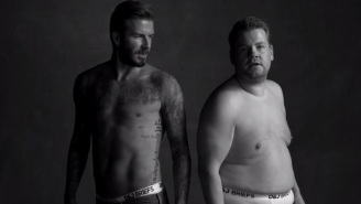 Check Out David Beckham And James Corden's 'Late Late Show' Underwear Commercial