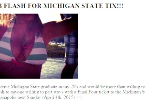 This Michigan State Fan Is Offering A 'Kiss And A Boob Flash' For A Final Tour Ticket