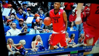 These Cheerleaders Die Laughing After This Dayton Basketball Player Is 'Pantsed' On A Rebound