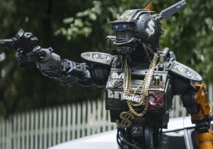 Review: 'District 9' director fumbles frustrating sci-fi grab bag 'Chappie'