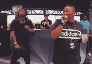 Photo Of The Day: Lil Wayne & Mannie Fresh Perform In Miami