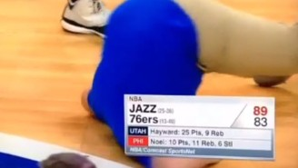 Things Didn't Go So Well For This Poor Kid During A Halftime Dunk Contest