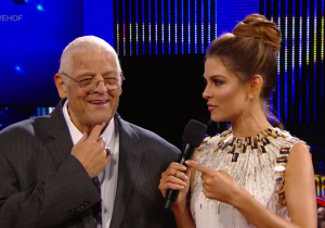 Maria Menounous Did The Dusty Rhodes 'Hard Times' Promo And Won WrestleMania Weekend