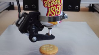 Watch A 3D Printer Try To Build With Easy Cheese