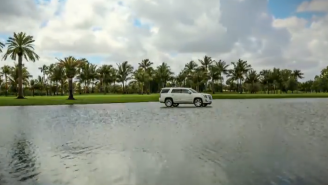 Here's How The PGA Tour Gets Those Cars To Float In The Water