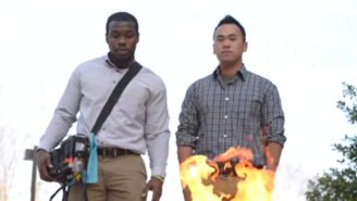 Watch Two College Students Put Out A Fire Using Only Sound