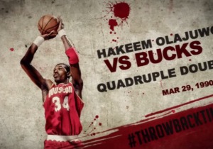 We Reminisce: Hakeem Olajuwon Makes History With League's Third All-Time Quadruple-Double