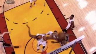 Hassan Whiteside Comes From Nowhere To Swat Boris Diaw's Layup Out Of Bounds