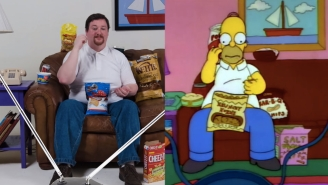 This Is What Snacking Like Homer Simpson Looks Like In Real Life