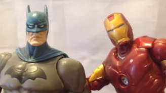Here's A Bunch Of Marvel And DC Action Figures Singing To One Another