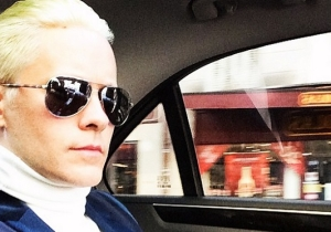 Jared Leto Shows Off His Bleached Blond Hair For 'Suicide Squad' And The Color It's Actually Going To Be