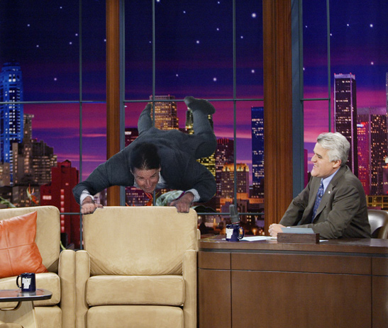 Tom Cruise was excited on Oprah, but a lot of people forget his Jay Leno appearance.