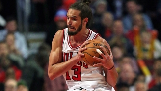 A Pumped Up Bulls Fan Could Not Help Himself From Slapping Joakim Noah On The Butt