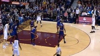 J.R. Smith Nearly Crosses Brandon Knight Out Of Quicken Loans Arena