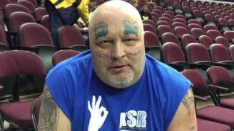 Meet The Diehard Kentucky Fan With 'UK' Tattooed On His Face