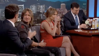 Jimmy Kimmel Made The 'American Idol' Judges Sample Peeps Milk