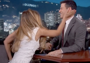 Jimmy Kimmel Got Slapped In The Face By One Of The New 'Bachelorettes' Last Night